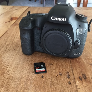Rent Canon 5D Mark III, 64GD card, 3 batteries, battery charger
