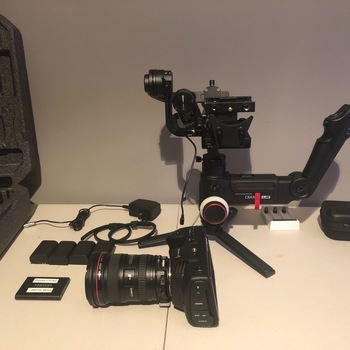 Rent Blackmagic Pocket Cinema 4K w/Zihuyn Crane 3 Lab, EF Speedbooster and L-series wide zoom