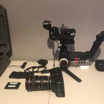Rent Blackmagic Pocket Cinema 4K w/Zihuyn Crane 3 Lab, EF Speedbooster and L-series wide zoom