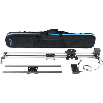"Rent RHINO motion control SLIDER Includes both 42"" and 24"" STEEL rails (up to 55lbs), both Rhino Motion control and ARC pan head, (Fits C200 with 24-70 for looping slider AF interviews) plus portable battey with AC power to keep both powered and charging"