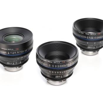 Rent Zeiss Compact Prime CP.2 Super Speed Lens Set EF (3 Lenses)