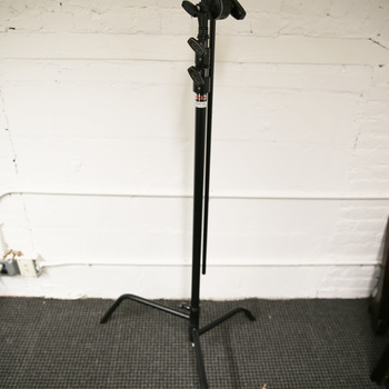 """Rent C Stand - Matthews Spring Loaded 40"""" with Grip Head & Arm -  Double Riser, Black"""