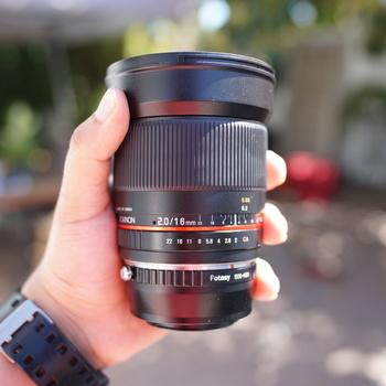 Rent Rokinon 16mm Prime Lens F2.0