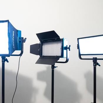 Rent Dracast LED500 Pro Bi-Color 3-light Kit W/ 2 Batteries, Softboxes, and More!!!!