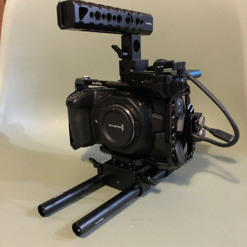 Rent BMPCC4K Base Kit with Cage, Rig Accessories, Media and Power