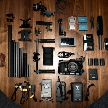 Rent Blackmagic Pocket Cinema Camera 4K (BMPCC4k) Shoulder Rig Kit
