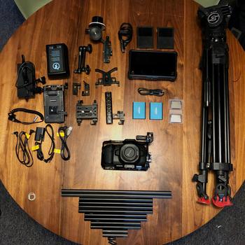 Rent Blackmagic Pocket Cinema Camera 4K (BMPCC4K) Cine Kit with Tripod, External Monitor and V-mount battery