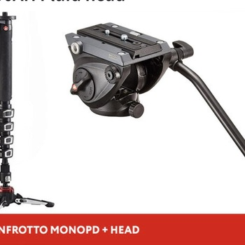 Rent Manfrotto XPro 5-Section Monopod + MVH500AH Fluid head