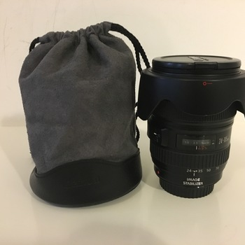 Rent Canon 24-105 f4 lens with bag, hood and uv filter