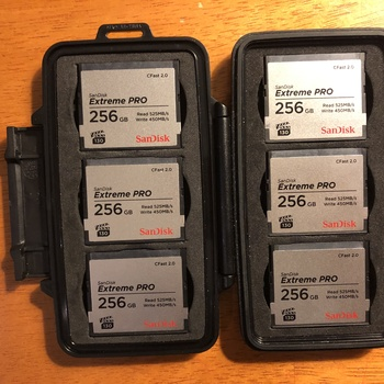 Rent SIX 256GB Sandisk CFAST cards (Alexa, C200 approved)