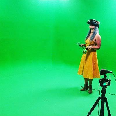 Green screen virtual reality vr ny
