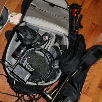 Rent C100Mkii PACKAGE (2 lenses, shotgun, support, shoulder rig, SD card, batteries w. charger)