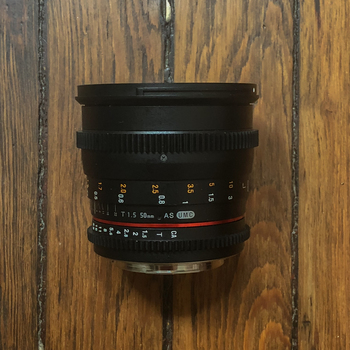 Rent Rokinon 50mm T1.5 AS UMC Cine DS Lens for EF Mount