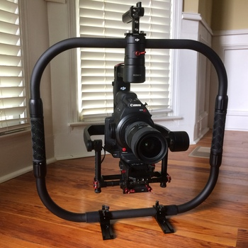 Rent DJI RONIN M w/ Ring grip, Feet, 3 batteries, Charger, Remote Control, Extension rails,  Stand, and Manfrotto Quick Release Plate.