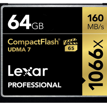 Rent Lexar Professional 1066x 64GB VPG-65 CompactFlash card