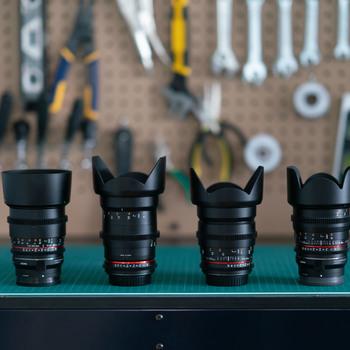Rent Like new Rokinon 24, 35, 50, 85mm T1.5 Cine DS Lens Bundle for Canon EF Mount