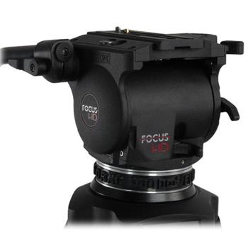 Rent Cartoni Focus HD Fluid Head & Two-Stage 3-Tube Aluminum-Alloy Tripod