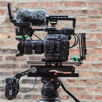 Rent Canon C300 Mark II - Doc Package w/ EF 24-105L, Wooden Camera Kit, 4x Batteries, 5x CFast, Shotgun + Lav Mics