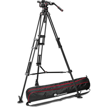 Rent Manfrotto Nitrotech N12 & 545B Dual-Leg Tripod System with Half Ball Adapter & Bag