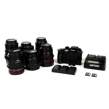 Rent HUGE GH5 PACKAGE - Includes EF Metabones / 6 Lenses / V-LOG