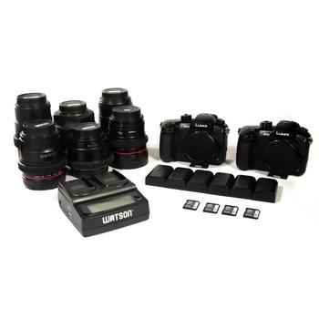 Rent ( 2 ) GH5 PACKAGE - Includes EF Metabones / 6 Lenses / V-LOG