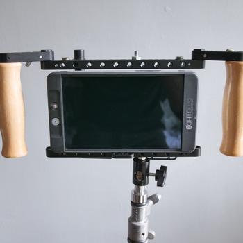 """Rent SmallHD 702 Bright 7"""" Monitor w/ Wooden Camera Director's Cage v2"""