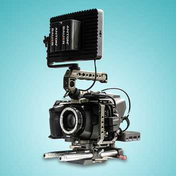 "Rent Blackmagic Pocket Cinema Camera 4K Kit w/ Metabones Speedbooster XL (Canon EF), 7"" SmallHD Monitor, 1 TB SSD, Cage & Accessories"