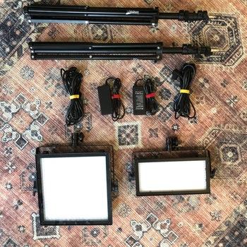 Rent Simple 2 Light LED Kit - Genaray 360B and 240B Bi-Color Dimmable lighting