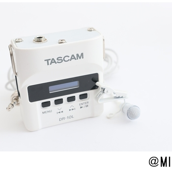 Rent Tascam DR-10L White - Audio Recorder and Lapel Microphone