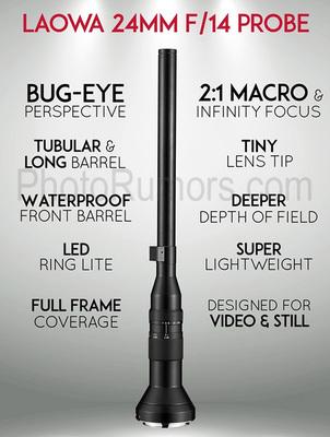 Laowa 24mm f14 relay 2x macro lens specs