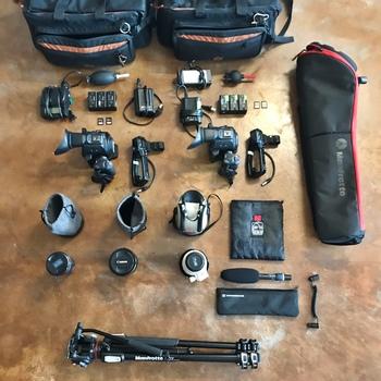 Rent 2x Canon c100ii, 16-35ii, 24-70ii, 70-200ii, 1 mic, Tripod