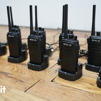 Rent Retevis RT1 2 Way Radio High-Power Handheld Walkie Talkies with Earpiece (Kit of 10)