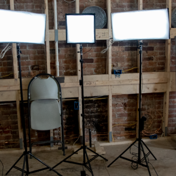 Rent Compact lighting kit. Includes three LED bi-color flex, light mats - Travel friendly, lightweight, interview lighting package