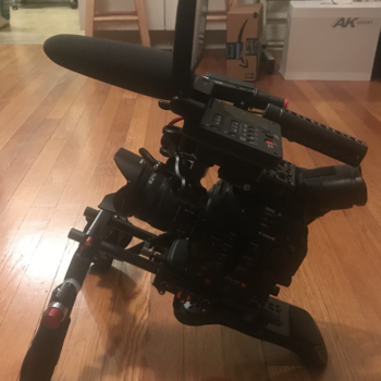 Rent Well cared for C300 mkii with Wooden Camera rig and other essentials.
