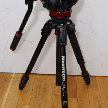 Rent Lightweight Manfrotto tripod kit with MVH 502AH fluid head