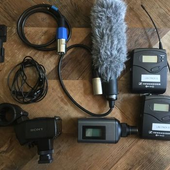 Rent SONY XLR-K2M XLR Audio Kit with Sennheiser Wireless LAV