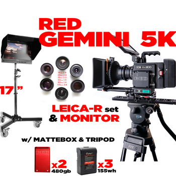 "Rent RED Gemini 5K Base +17"" FLANDERS + LEICA-R SET"