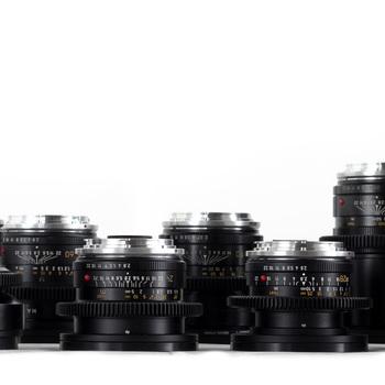 Rent 4x Cinevised Leica R EF Lens Set