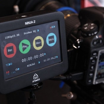 Rent Atomos Ninja 2 Video Recorder, HDMI Input and Output, 800x480 Touchscreen Operating System  w/ 500 GB Sandisk SSD