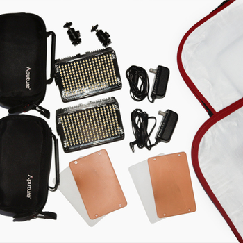 Rent Full TWO Aputure Amaran AL-H198 Lighting kit with stands and soft boxes