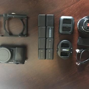 Rent Sony Alpha 6300 + Sony 18-105 f4 + Sony 35 f1.8 + Tripod + underwater cage