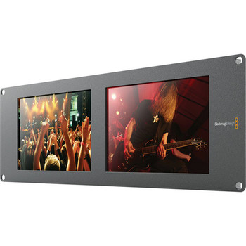 "Rent Blackmagic Design SmartView Duo Rackmountable Dual 8"" LCD Monitors"