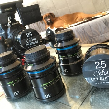 Rent Celere HS  Prime Lens Set T-1.5 in PL or EF.  Covers  LF, Full frame, Vista Vision