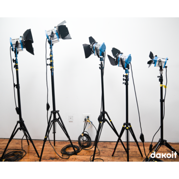 "Rent Arri Fresnel 5-Light Kit (AKA ""The Michael J. Fox"")"