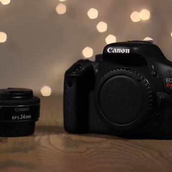 Rent Canon Rebel T3i + 24mm Pancake Lens