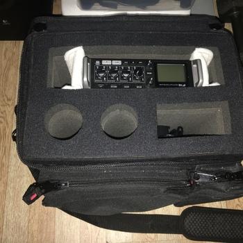Rent Zoom F4 Record W/ Bag + Boom Pole + Headphone + Portable Batter