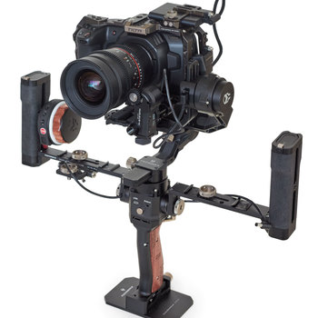 Rent Blackmagic Design package: BMPCC 4K + CAGE + TILTA G2X GIMBAL + NUCLEUS-N + LENS PACKAGE