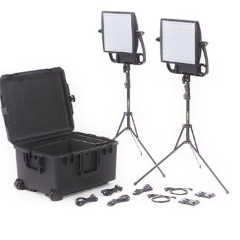 Rent Litepanels Astra 3X Traveler Bi-Color Duo 2-Light Kit with Gold Mount Battery Brackets