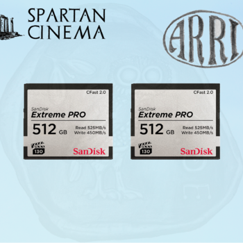 Rent Two 512GB Extreme PRO CFast 2.0 Memory Cards #2 (ARRI Approved)