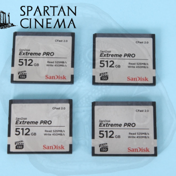Rent Four ARRI 512GB Extreme PRO CFast 2.0 Memory Cards